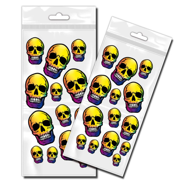 Skull Polygon Aufkleber Motive Totenkopf