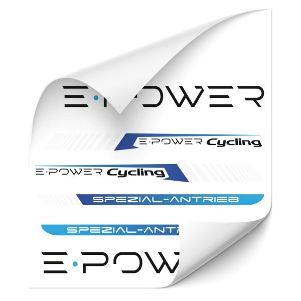 E Power Rahmen Aufkleber E Bike Sticker Cycling Spezial Antrieb