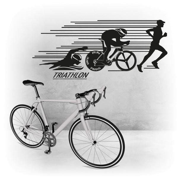 Triathlon Wandtattoo