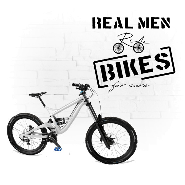 Real men ride bikes