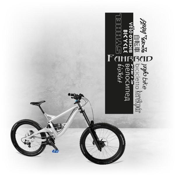 Fahrrad Sprachen Wandaufkleber