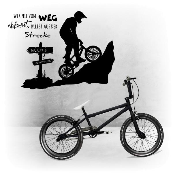 Wandtattoo | Bike | Vom Weg abkommen