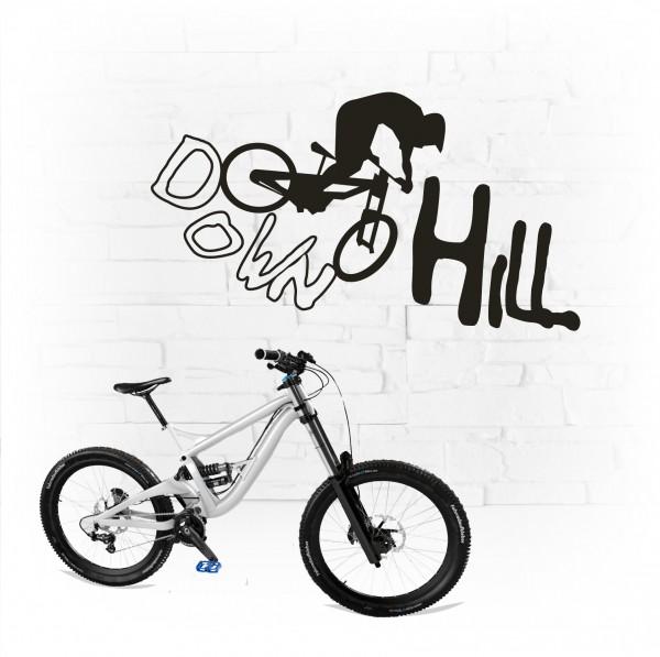 Downhill Race Biker Tattoo
