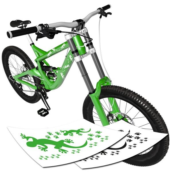 Gecko Aufkleber Fahrrad