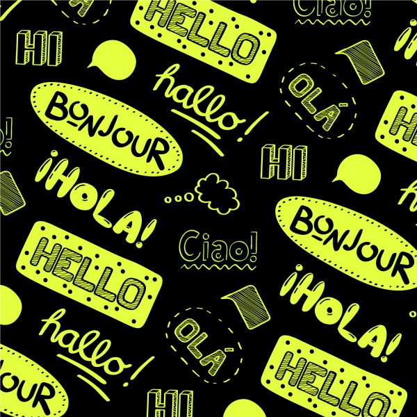Fahrradfolie Sprachen Hello - Kategorie Shop