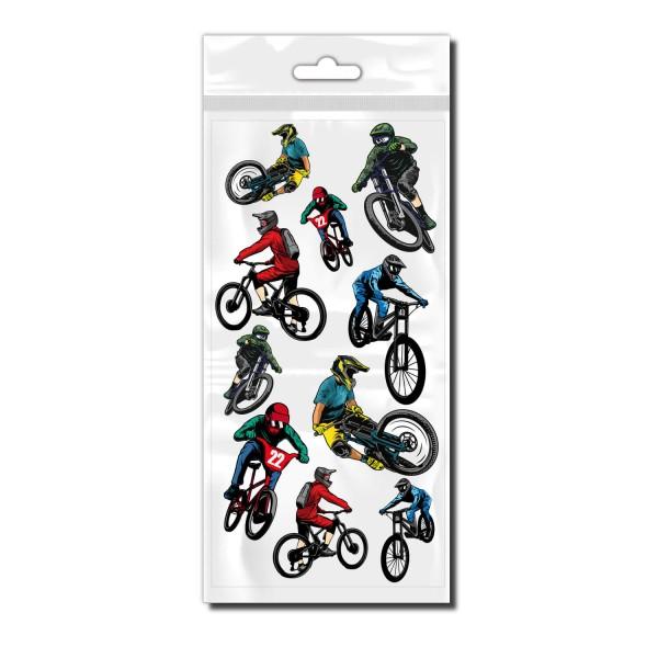 Downhill Biker Set Bicycle Sticker - Kategorie Shop