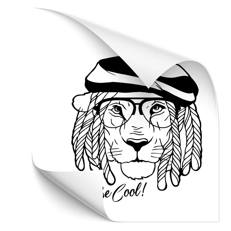 Rasta Lion Car Tuning Sticker - katzen & Co