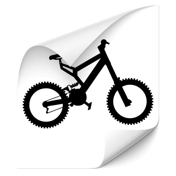 Mountainbike Motivaufkleber