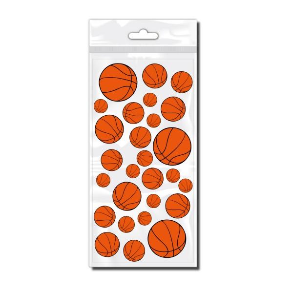 Rahmen Aufkleber Basketbälle