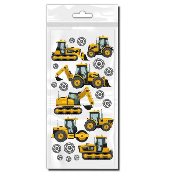 Baustellenfahrzeug Set Deko Aufkleber - Kategorie Shop