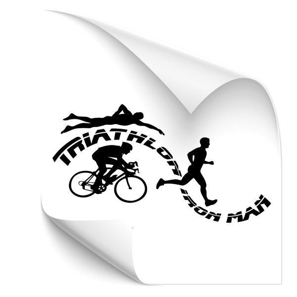 Triathlon Iron Man Wandtattoo