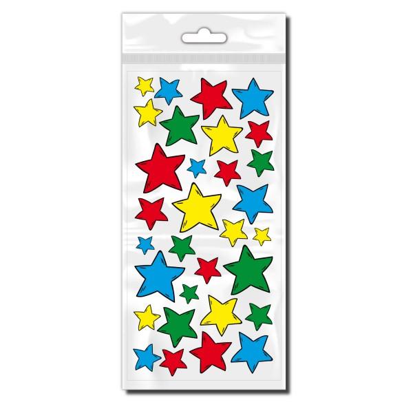 Stern Aufkleber bunt für Fahrrad