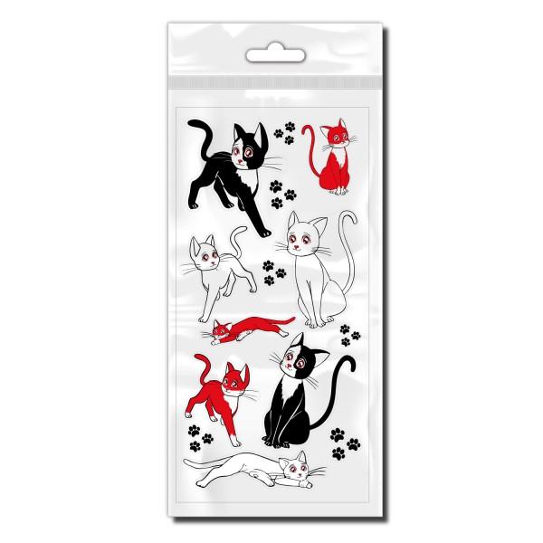 Katzen Fahrradaufkleber