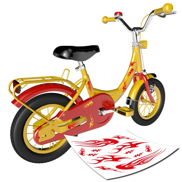 Flammen Dekor-Set Fahrrad