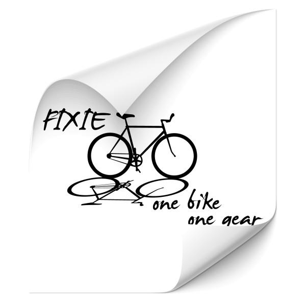 One bike - one gear | Sticker Singlespeed