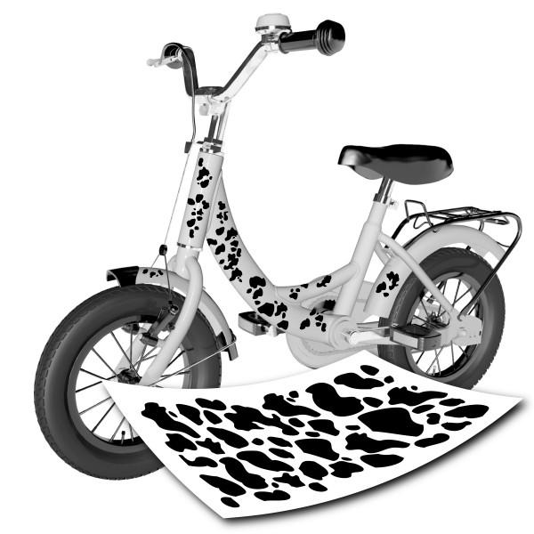 Kuhflecken Fahrrad Aufkleber - 44-teilig - Set