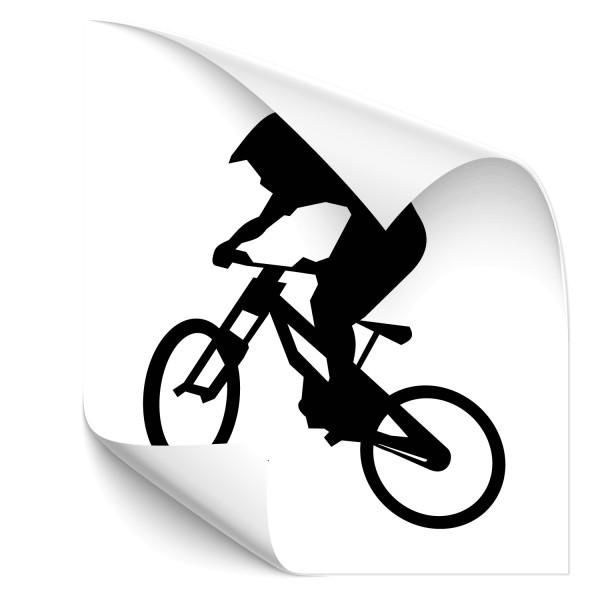 Motivaufkleber - MTB Fahrer- Sticker