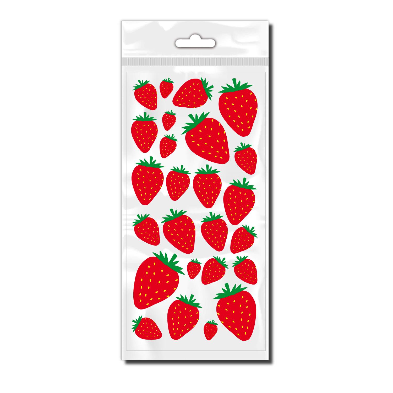 Fahrrad Aufkleber mit Erdbeeren