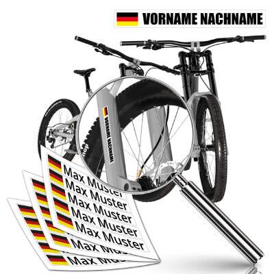 Namensaufkleber für das Fahrrad