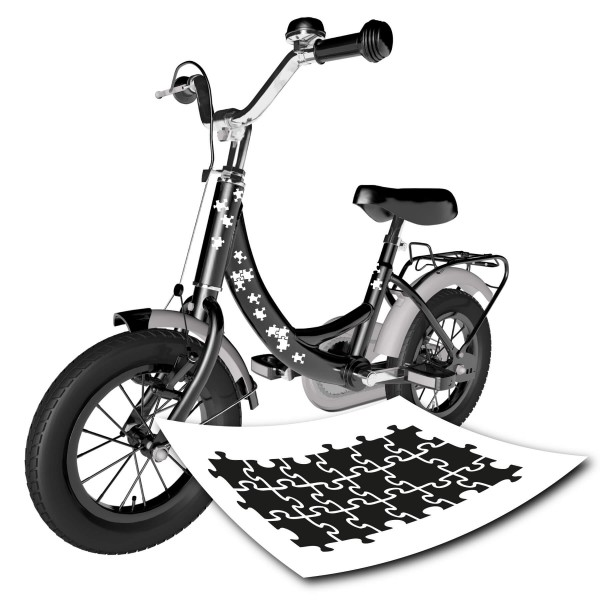 Fahrrad Puzzle Design Aufkleber