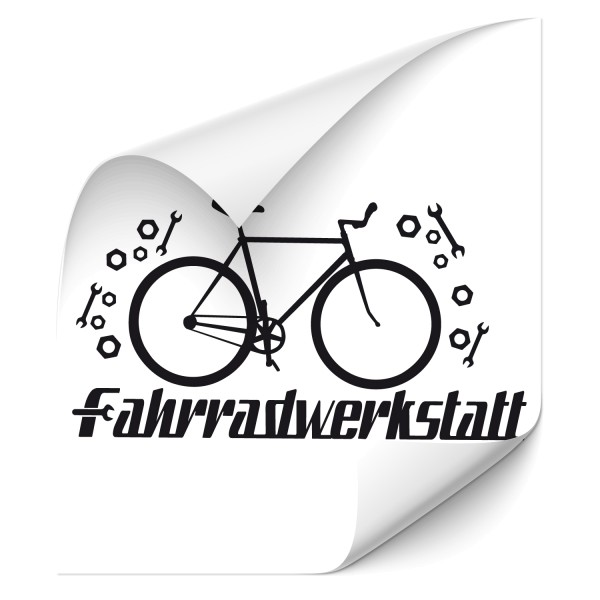 Fahrradwerkstatt Wandtattoo