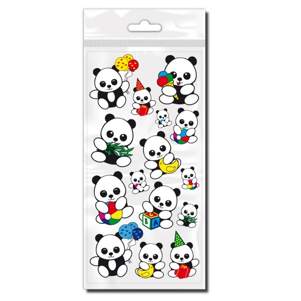 Pandabären Fahrrad Sticker