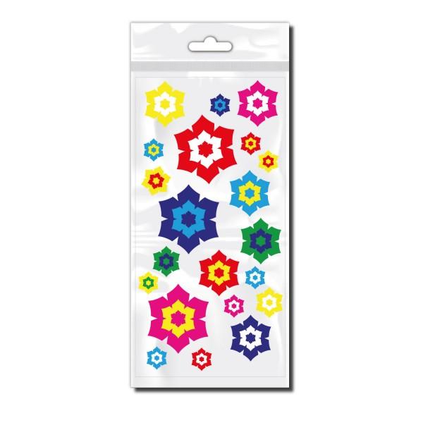 Sticker bunte HIbiskus Blumen