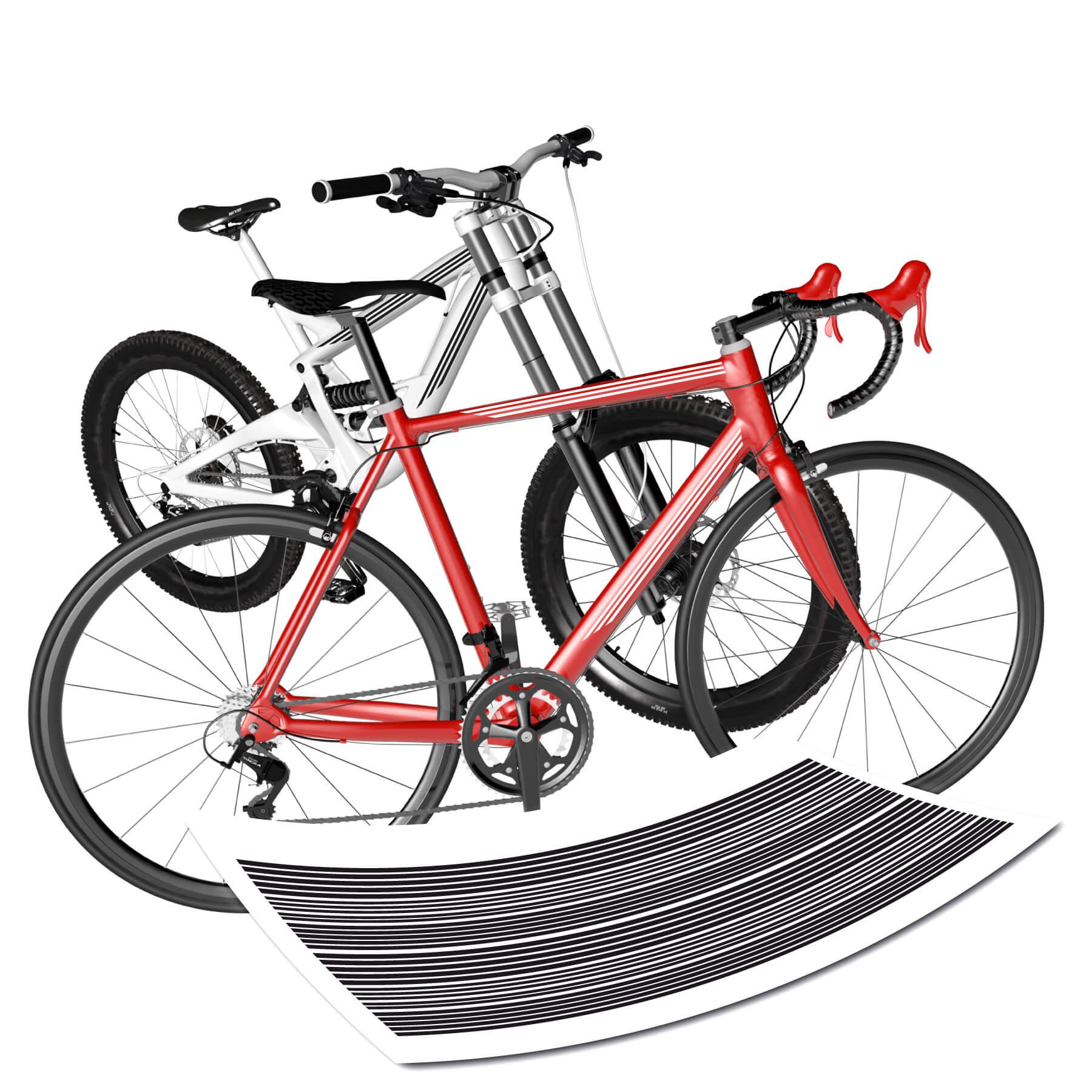 Moderne Streifen Fahrrad
