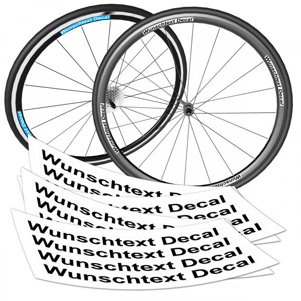Rennrad Wunschtext Decal + Wunschtext Premium