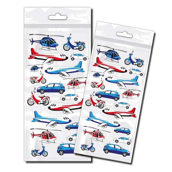 Flugzeuge & Auto Sticker Set