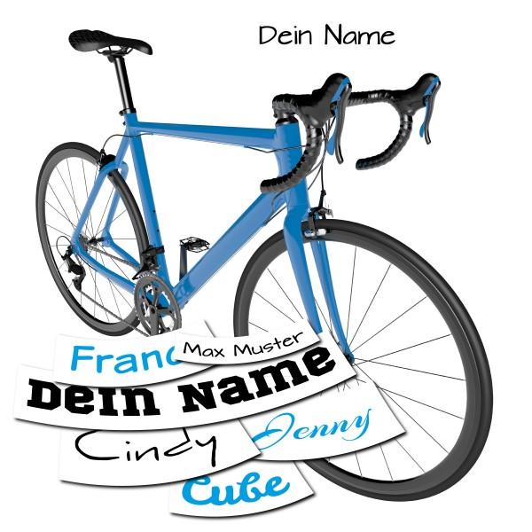 Namensaufkleber Fahrrad