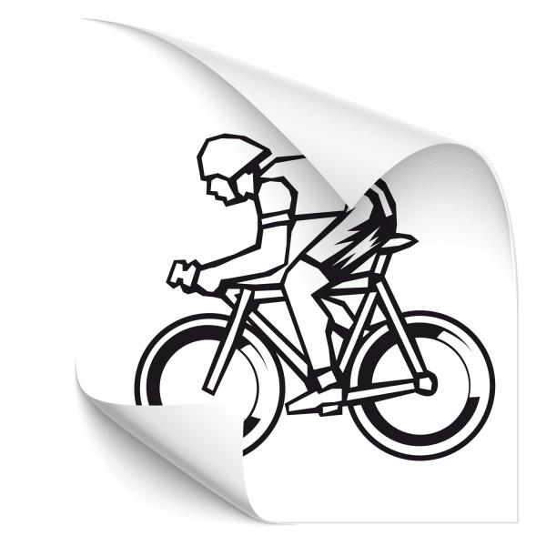 Motivaufkleber Zeitfahren - Triathlon - Sticker