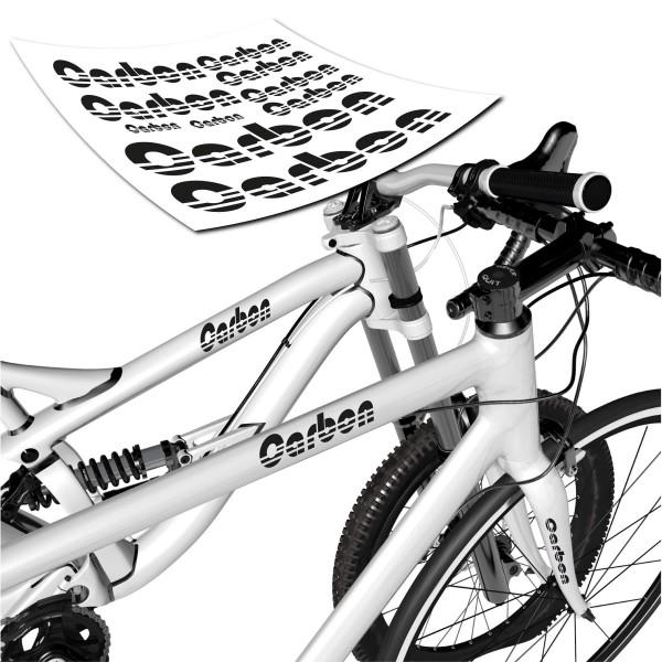 Carbon Beschriftungs-Set Fahrrad