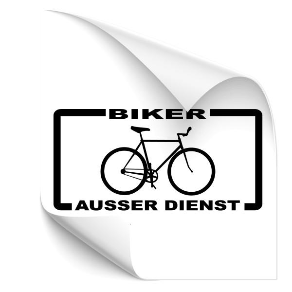 Autoaufkleber - Biker außer Dienst