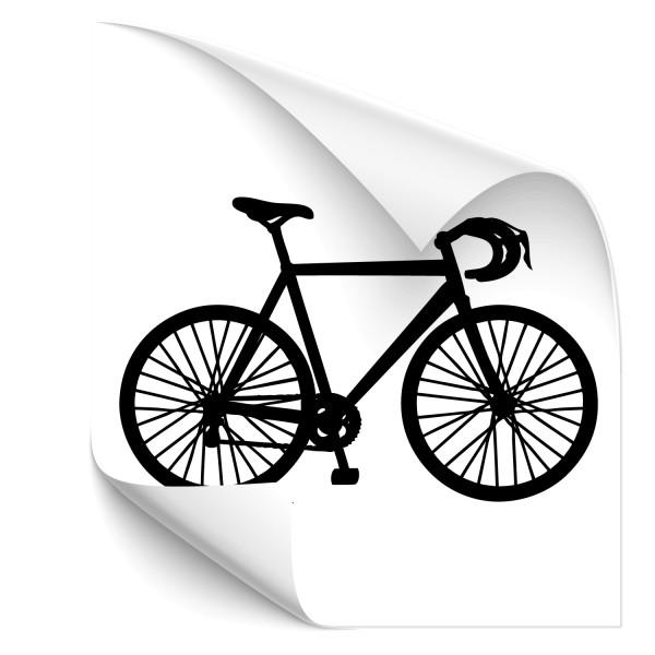Motivaufkleber Rennrad